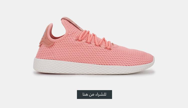 حذاء التنس فاريل وليليامز هو من اديداس اورجينال احمر