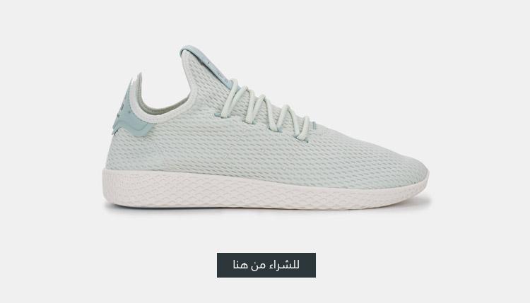 حذاء التنس فاريل وليليامز هو من اديداس اورجينال اخضر