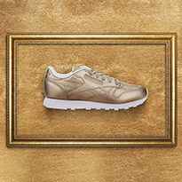 Go For Gold With The Reebok Classic Leather Lux Shoe