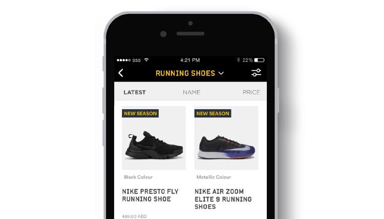 shopping app sports