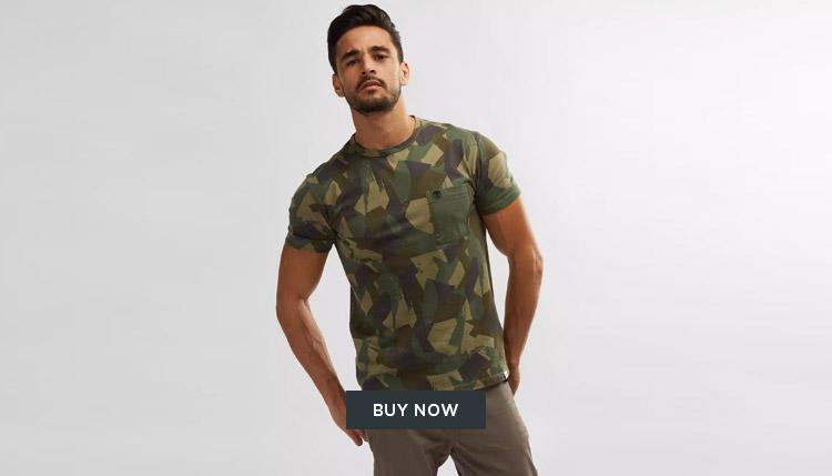 Timberland Camo T-Shirt Mens UAE