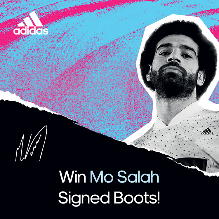 Win Mo Salah signed boots in UAE